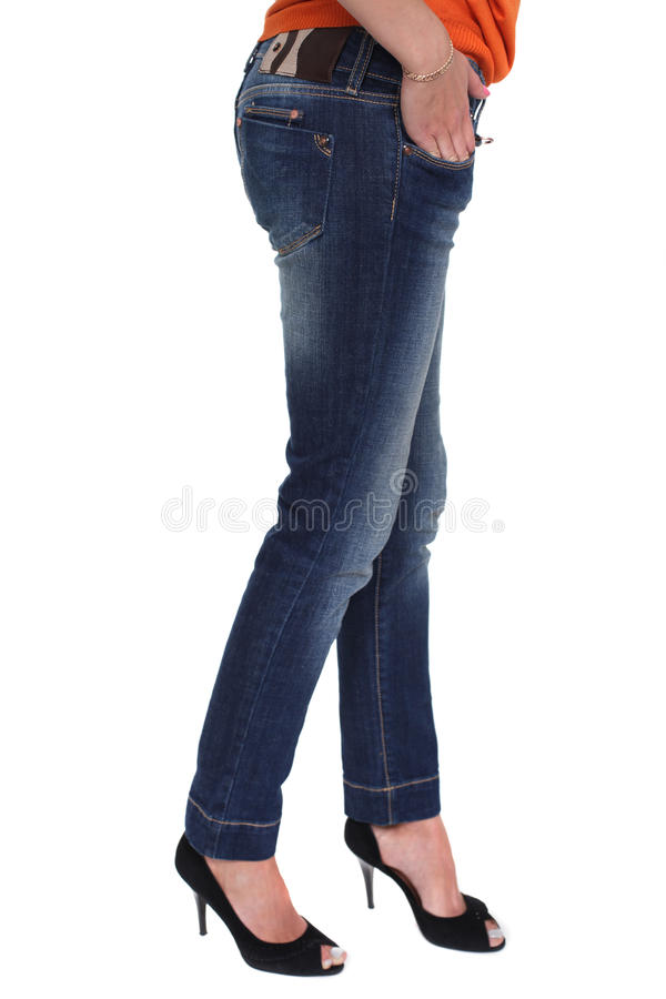 Download Nära kvinnlig jeans arkivfoto. Bild av kvinnlig, sexigt - 37347422