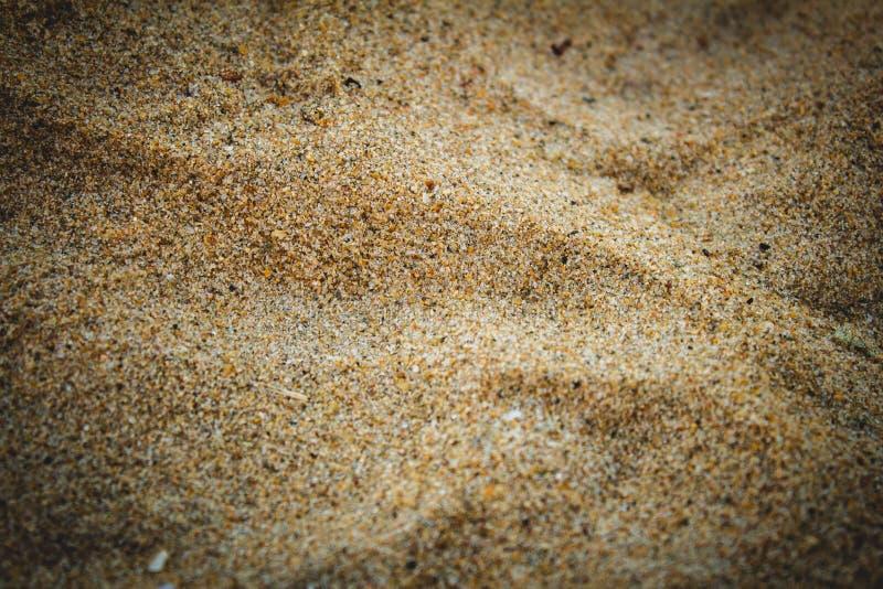 Nära vy över strandsand i Elliots strand, Chennai, Indien arkivfoton