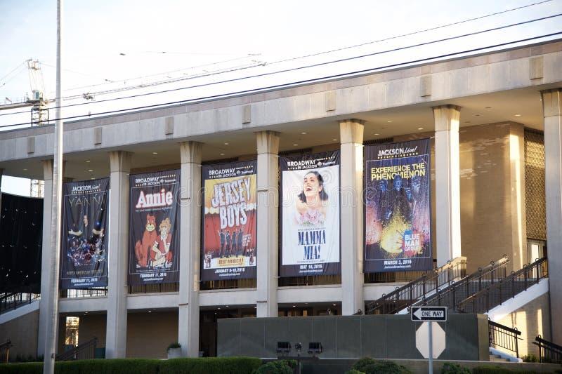 Närbild av byggnaden för Mississippi symfoniorkester royaltyfri fotografi