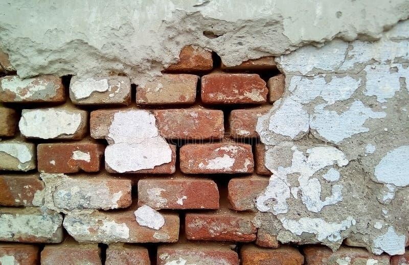Närbild av delen av en tegelstenvägg royaltyfria foton