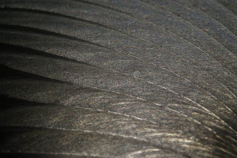 Närbild av den industriella realistiska gråa plana delen för färgrostfritt stål i partisk fokus efter industriell CNC som sänder  royaltyfria foton