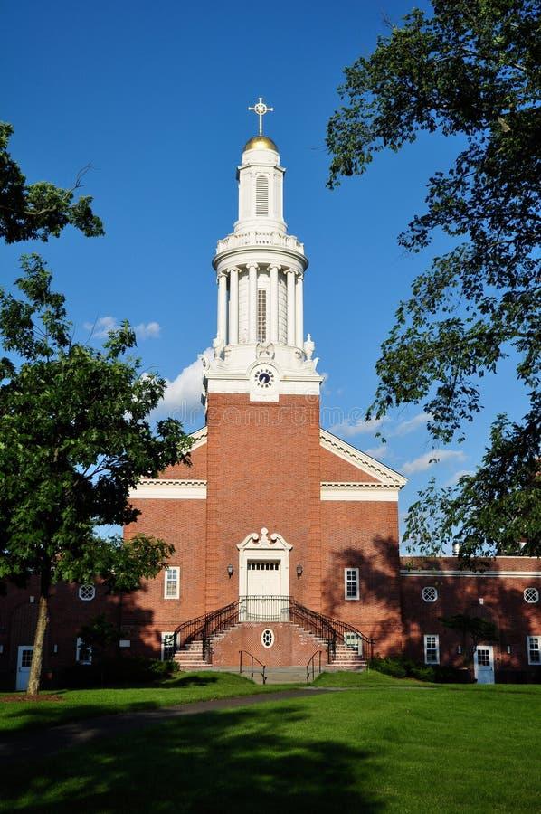 Närbild av den Yale University gudomskolan arkivfoton