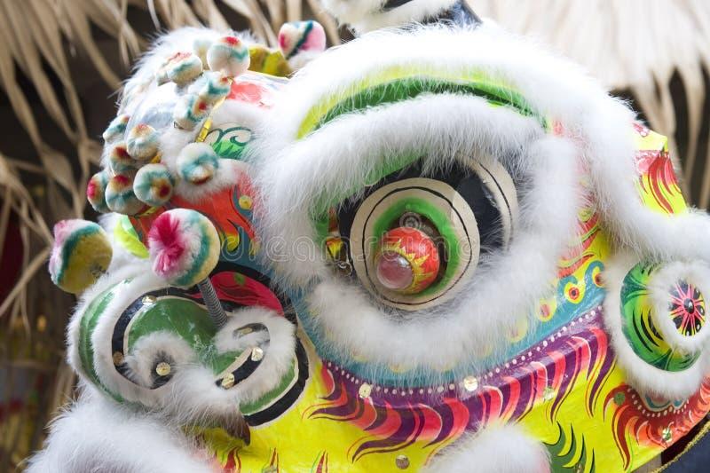 Närbild av det kinesiska lejonhuvudet royaltyfria foton