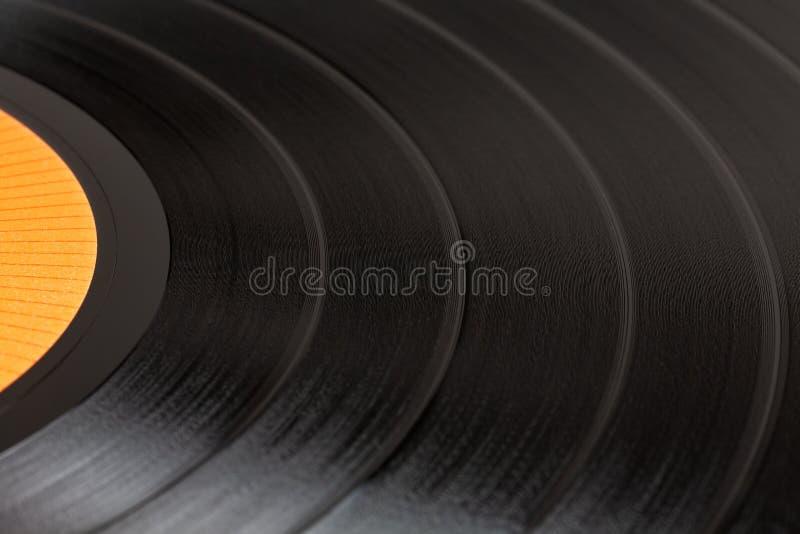 Närbild av en svart retro rekord- yttersida royaltyfri bild