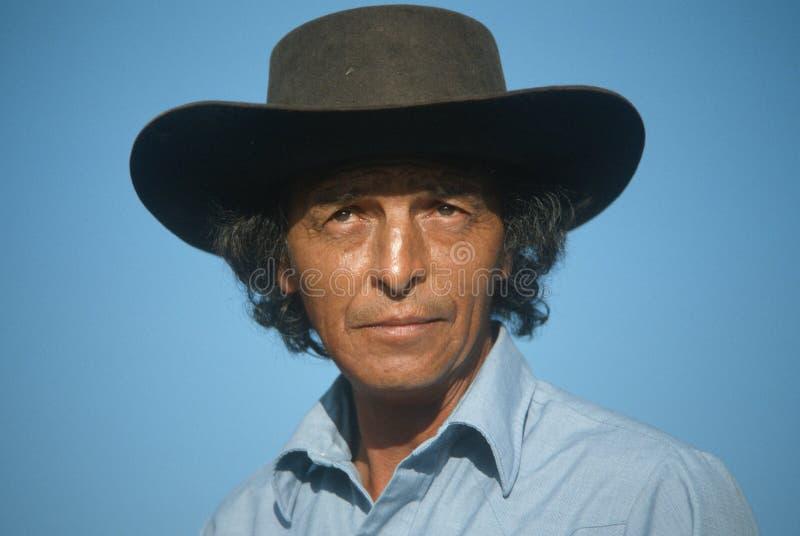Närbild av enamerikan cowboy, NM royaltyfri foto