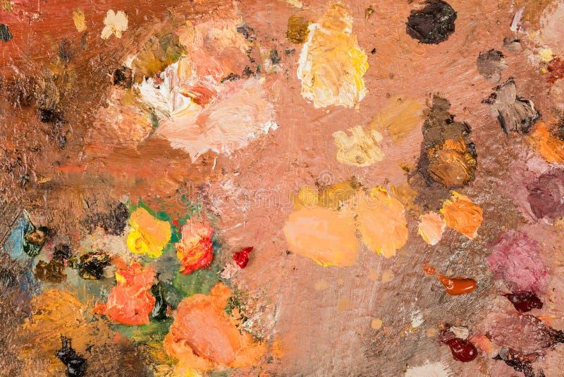 närbild av olika färger med olje- målarfärg kulör akryl Th royaltyfri fotografi