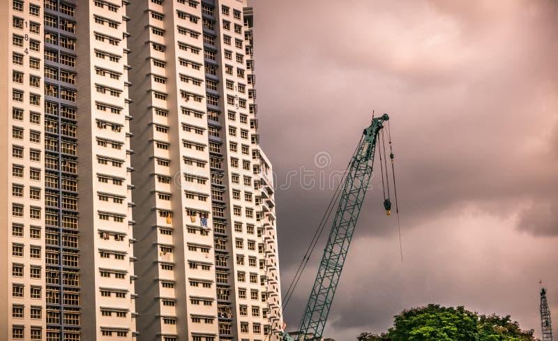 Närbild av Singapore den offentliga bostads- huslägenheten i Bukit Panjang royaltyfria bilder