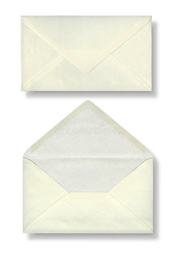 Närbild av två kuvert. royaltyfria bilder