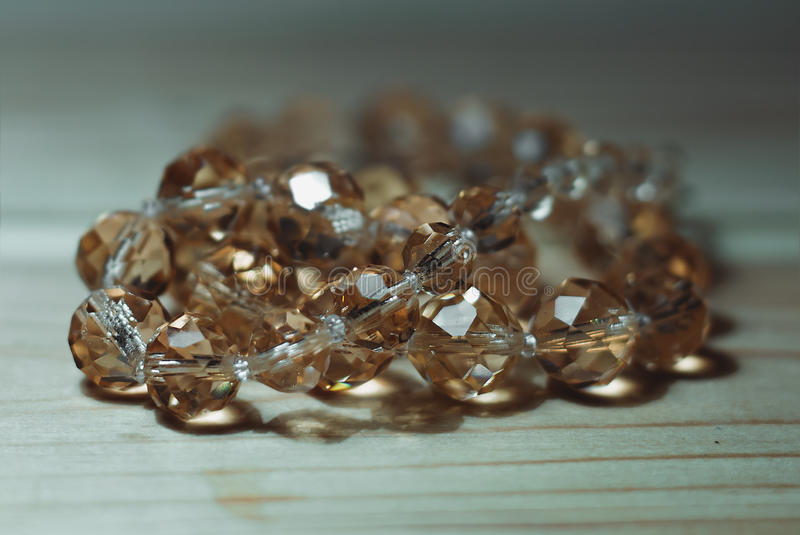 Närbild för Glass pärlor royaltyfri fotografi