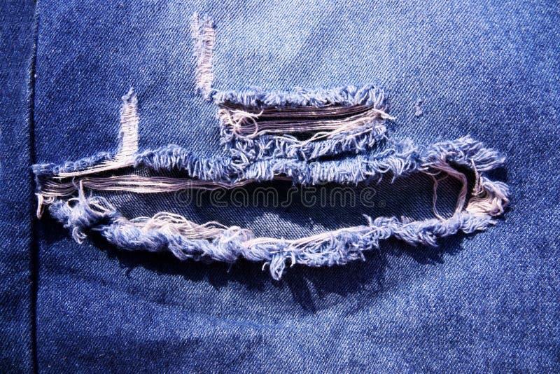 Närbild för Jean texturbakgrund arkivfoto