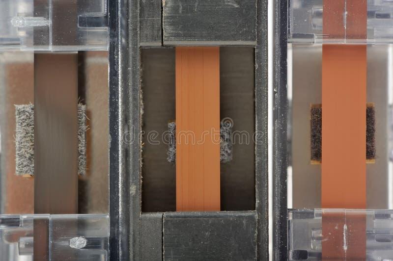 Närbild för kassettband arkivfoto