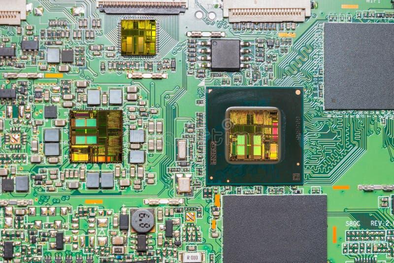 Download Närbild På En CPU-mikrochipsintrig Arkivfoto - Bild av apparat, kondensator: 76701590