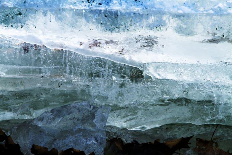 Närbildbild av blå istextur royaltyfri foto