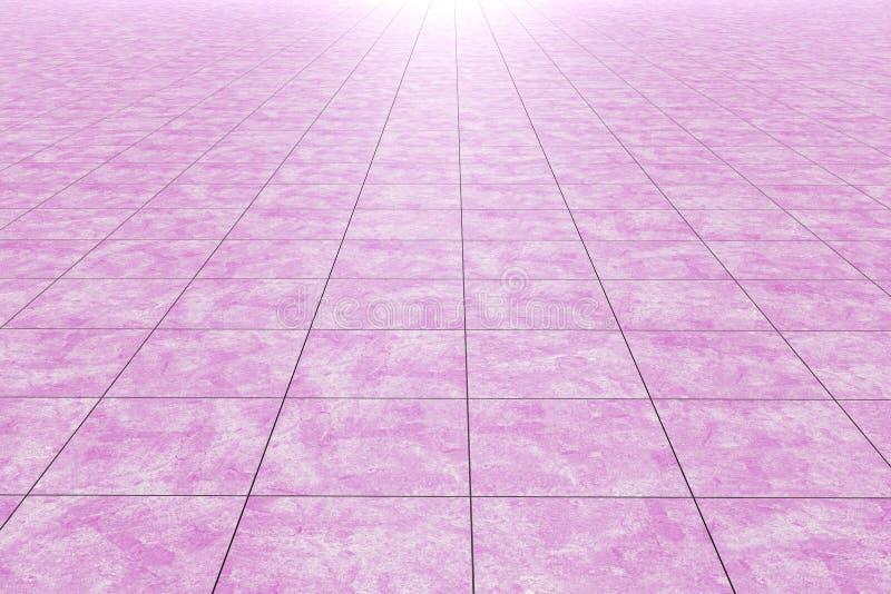 Närbilden av rosa färger glasade tegelplattagolvet/väggen stock illustrationer