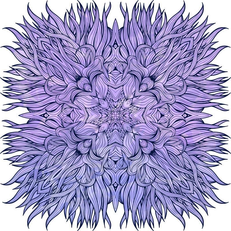Närbildsikt av den stora blåttblomman stock illustrationer