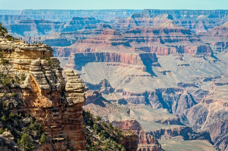Närbildsikt från Mather Point - Grand Canyon royaltyfri foto
