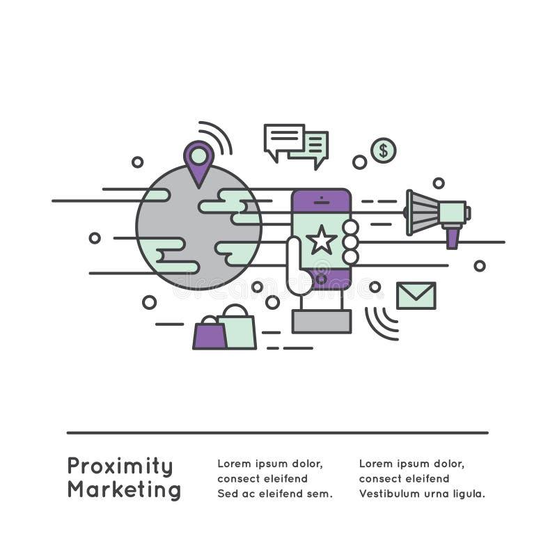 Närhetmarknadsföring stock illustrationer