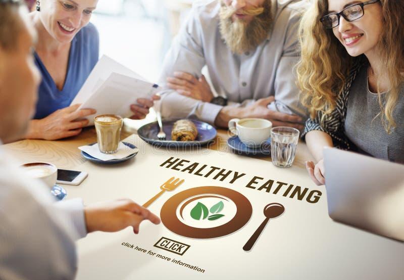 Näringsrikt begrepp för sund ätamat fotografering för bildbyråer