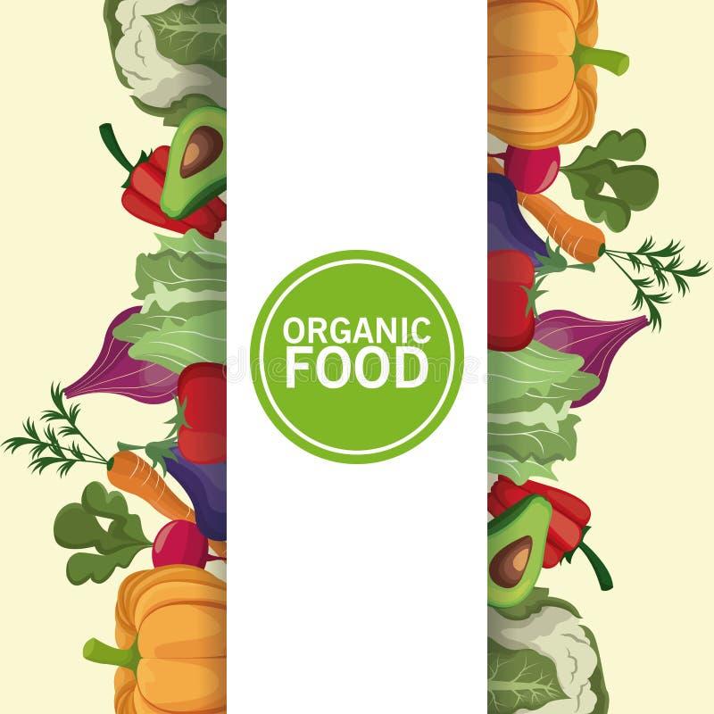 Näringvitaminer för organisk mat bantar stock illustrationer
