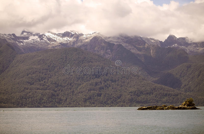 Näs av Ofqui, Patagonia, Chile arkivfoton