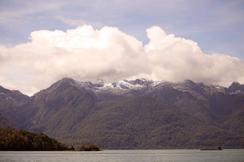 Näs av Ofqui, Patagonia, Chile fotografering för bildbyråer