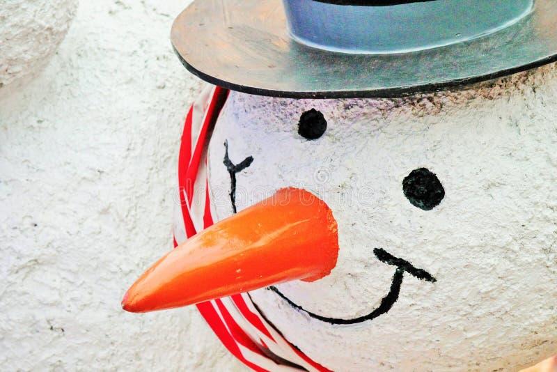 Näsa för snögubbestatymorot fotografering för bildbyråer