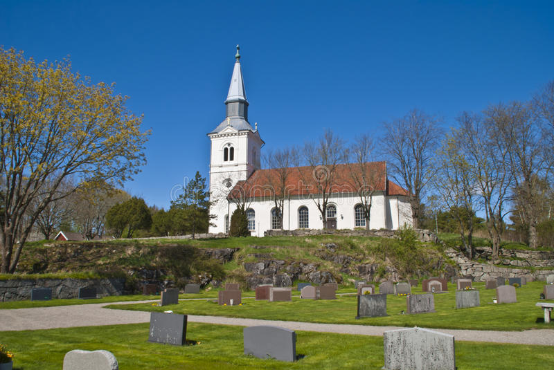 Näsinge church (south-east). Näsinge church was built in 1864 in tomorrow's traditional style, whitewashed, seafaring and with spacious interior. The stock image