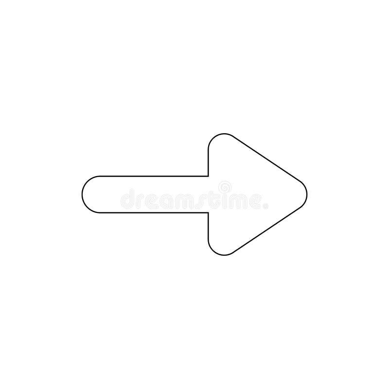 Nästa höger översiktssymbol för pil Tecknet och symboler kan anv?ndas f?r reng?ringsduken, logoen, den mobila appen, UI, UX vektor illustrationer