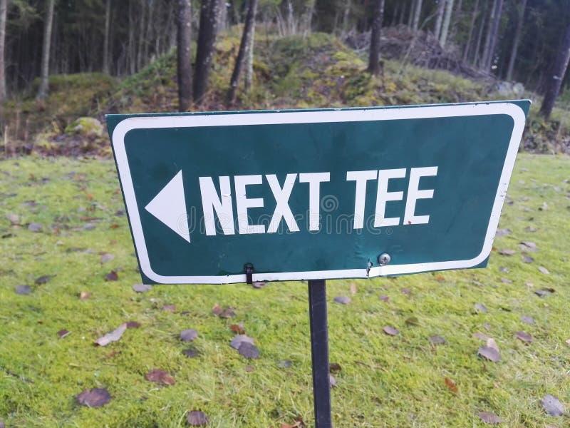 Nästa utslagsplats för golfspelare royaltyfri bild