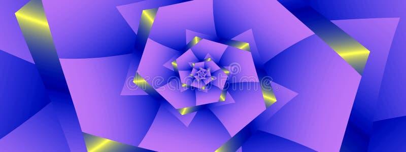 Nästan blå spiral som är panorama- stock illustrationer