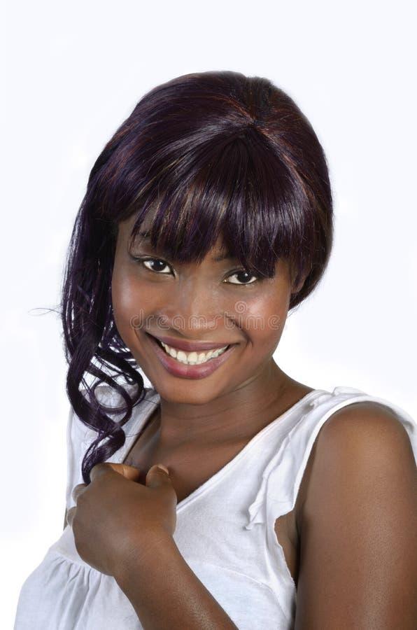 Nätt afrikansk flicka arkivfoto
