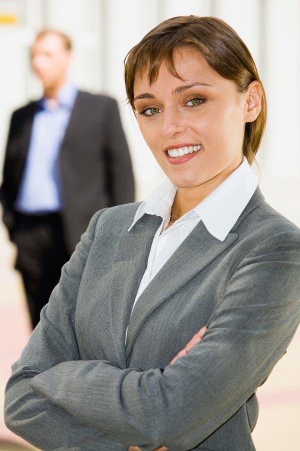 nätt arbetare för kvinnligkontor royaltyfria foton