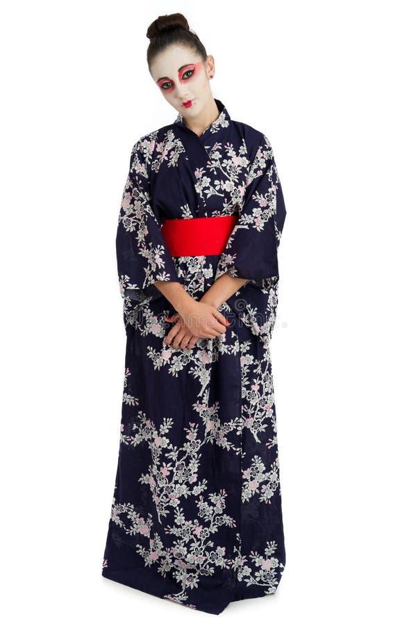 nätt barn för geishaflicka arkivbild