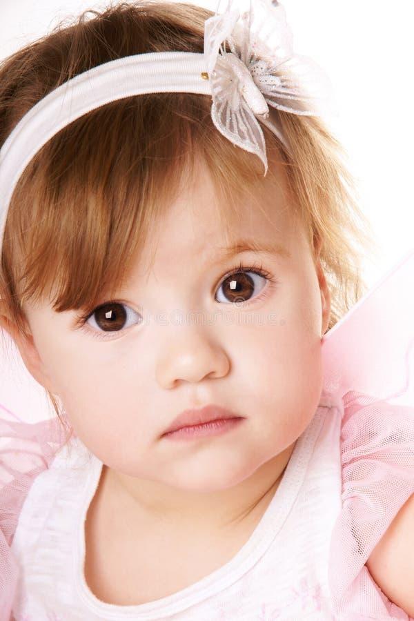 Nätt behandla som ett barn flickan royaltyfria bilder