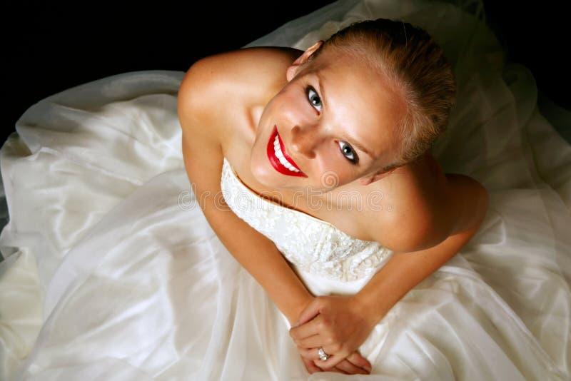 nätt blond brud royaltyfria foton