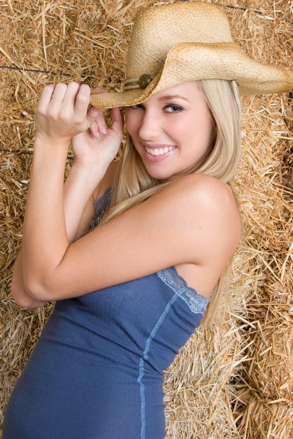 nätt cowgirl royaltyfri foto
