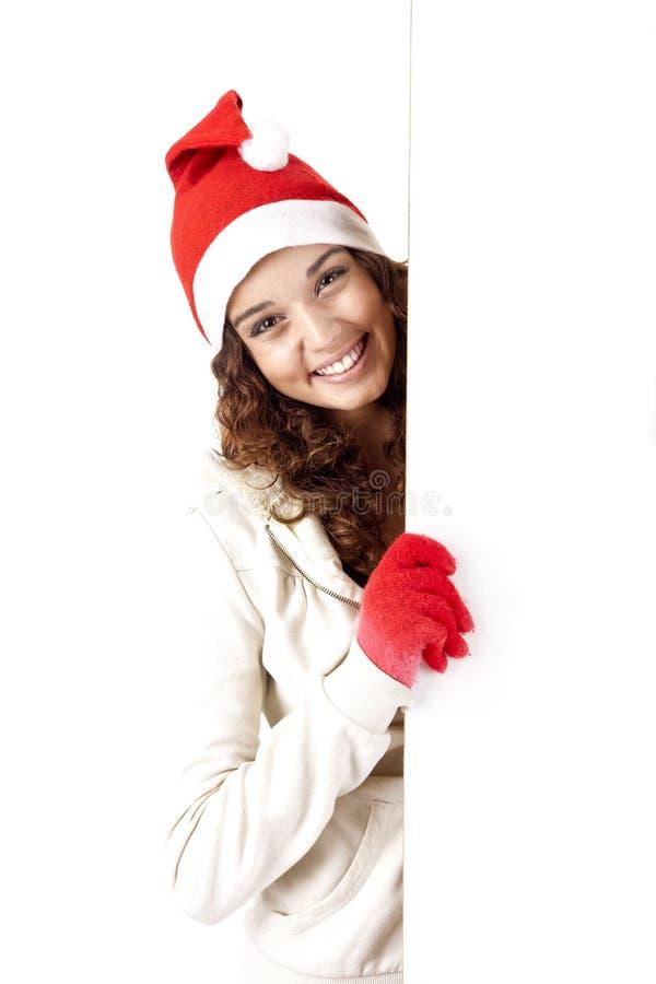 nätt flicka för 3 jul royaltyfri foto