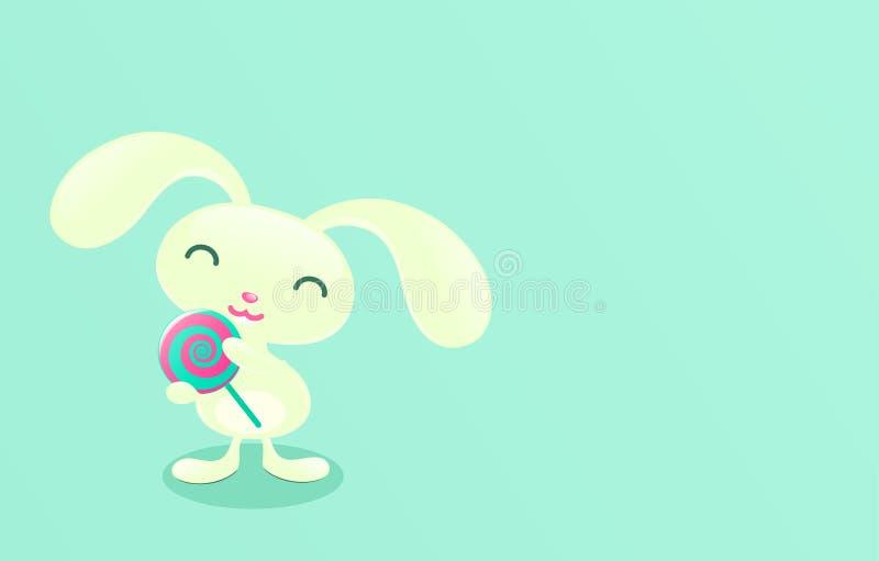 nätt kaningodismint stock illustrationer