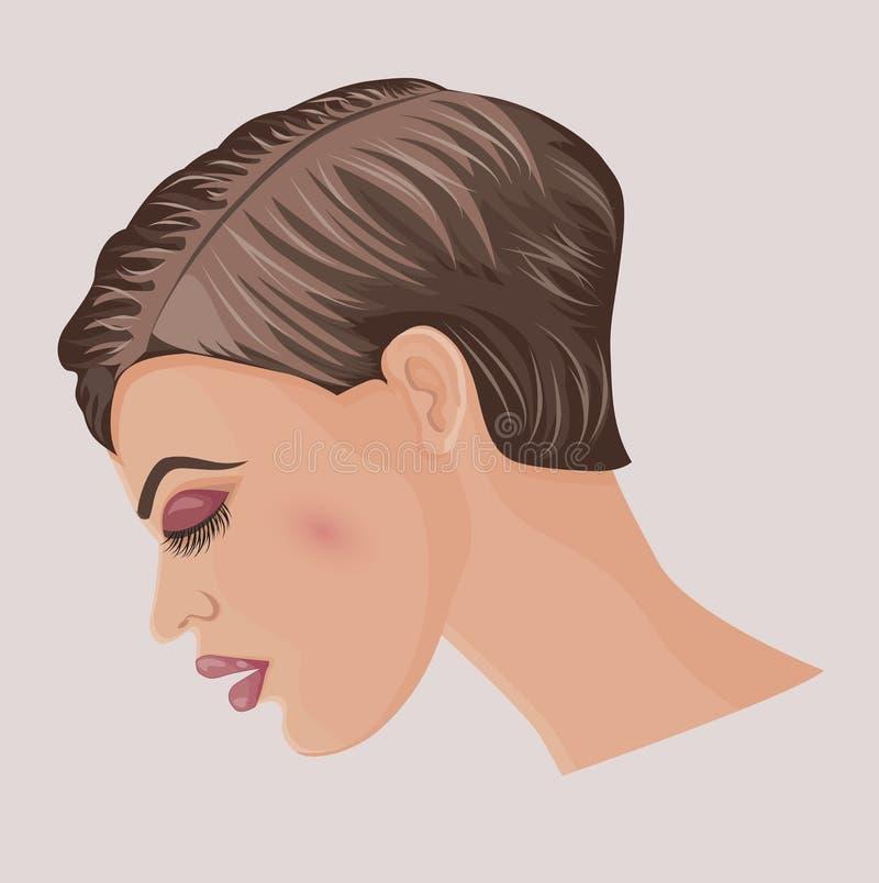 nätt kort kvinna för frisyr vektor illustrationer