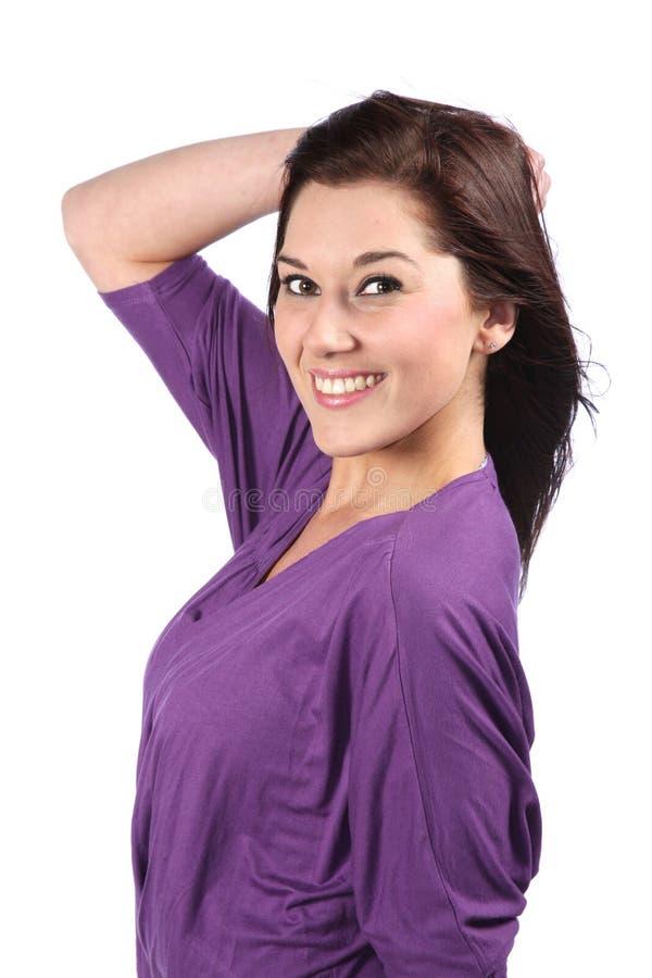 nätt kvinna för brunett royaltyfri bild