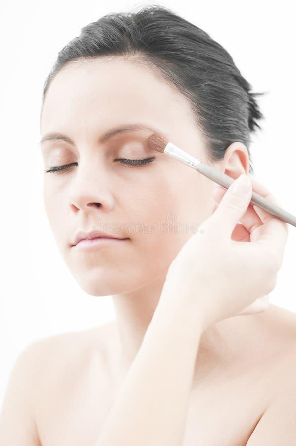 nätt kvinnabarn för makeup arkivfoton