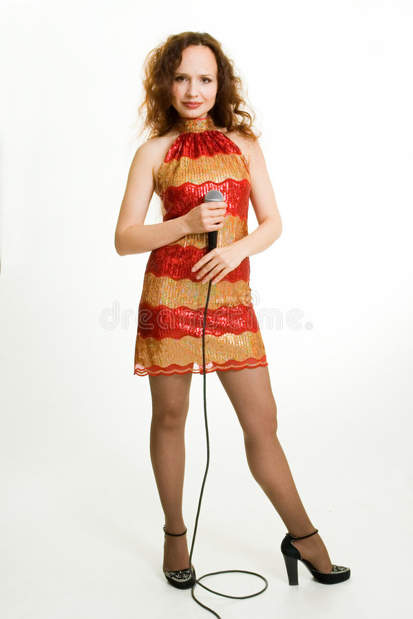 nätt sångare fotografering för bildbyråer