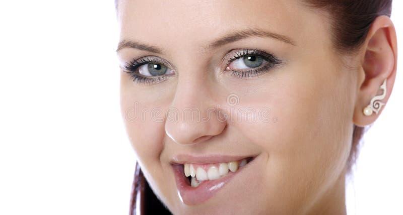 nätt s kvinna för framsida fotografering för bildbyråer