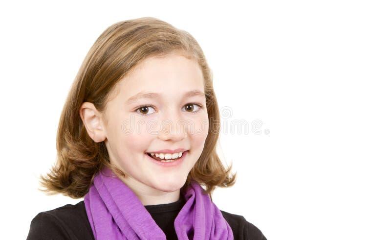 nätt schoolgirlbarn för stående royaltyfria bilder