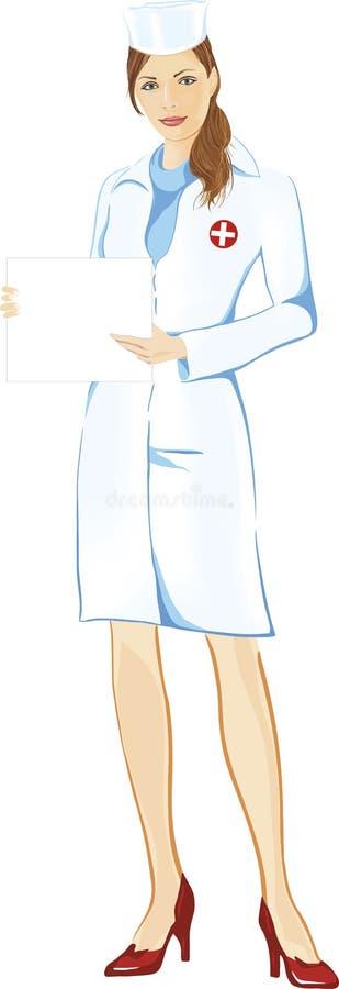 nätt sjuksköterska stock illustrationer
