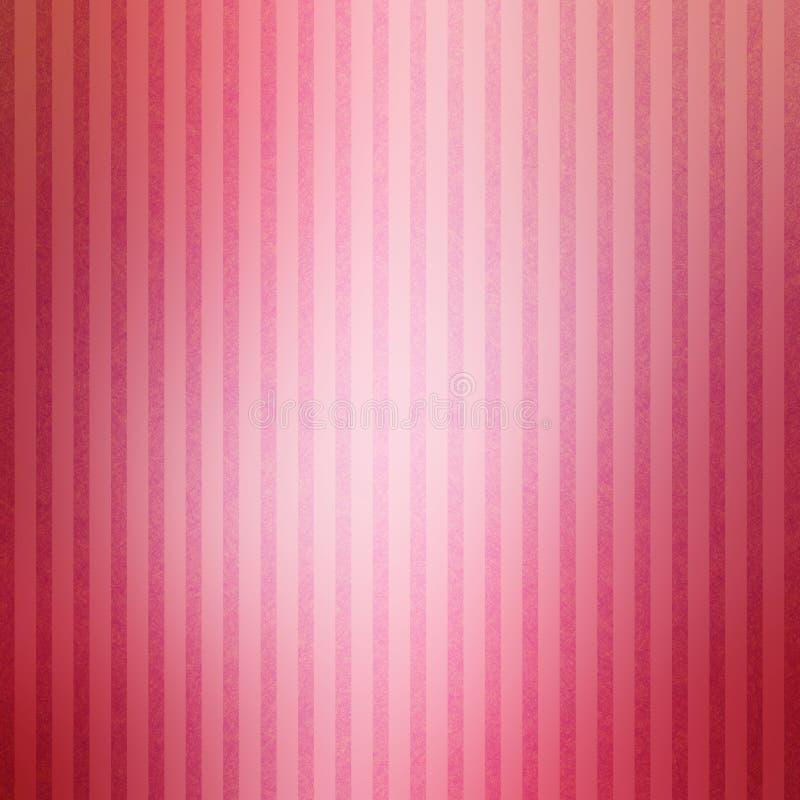 Nätt skinande randig bakgrund med den vita glansiga mitten och texturerade band i mjuka färger av rosa rosa färger royaltyfri illustrationer