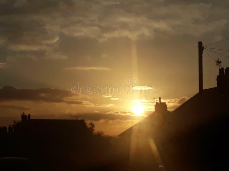 nätt solnedgång royaltyfri bild