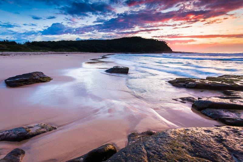 Nätt strand New South Wales Australien royaltyfri fotografi
