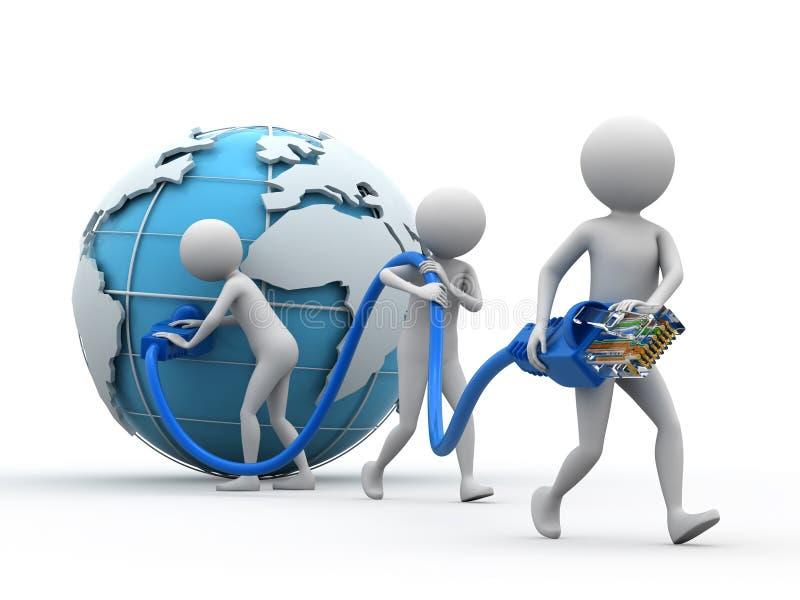 nätverk över hela världen vektor illustrationer