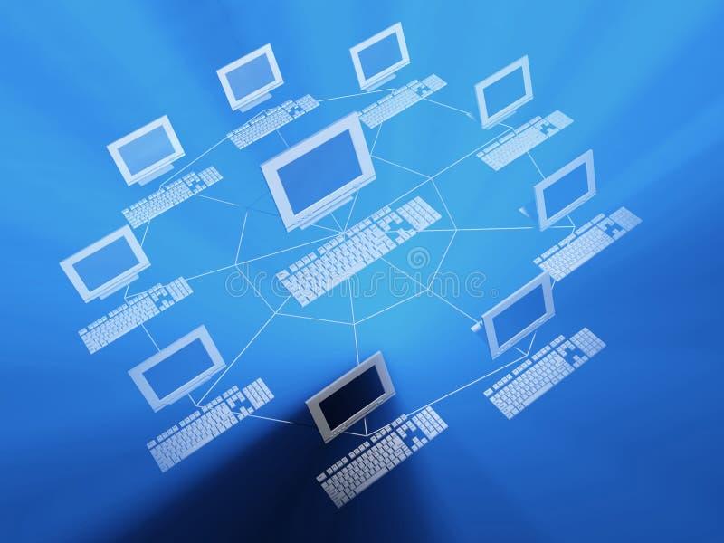 nätverk 2 vektor illustrationer